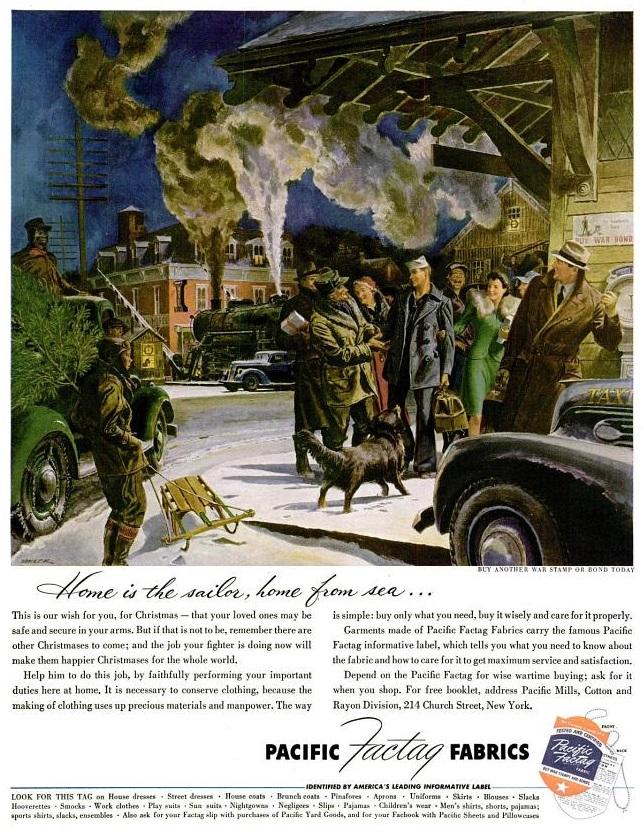 Kerstmis tijdens WO2 in Amerikaanse advertenties 1943