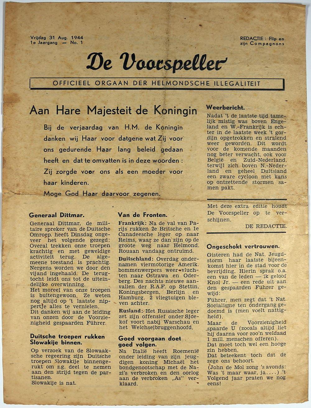 De Voorspeller - Officieel orgaan der Helmondsche illegaliteit