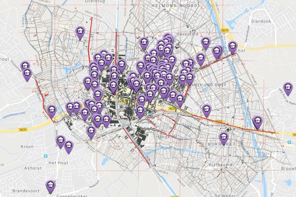 Helmondse oorlogsslachtoffers in kaart