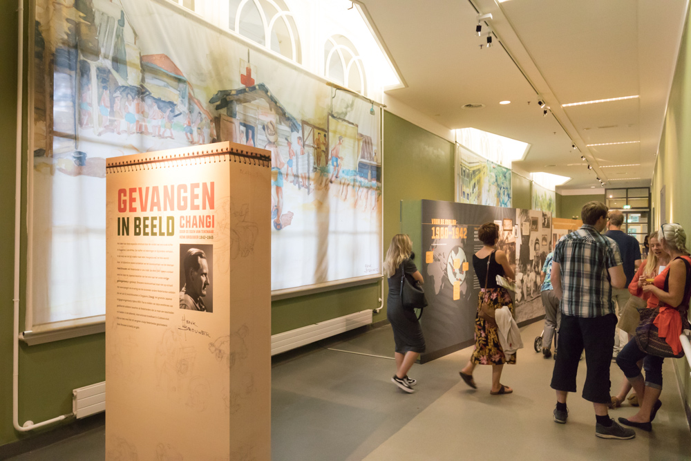 Opening tentoonstelling Gevangen in Beeld, Changi in Museum Bronbeek