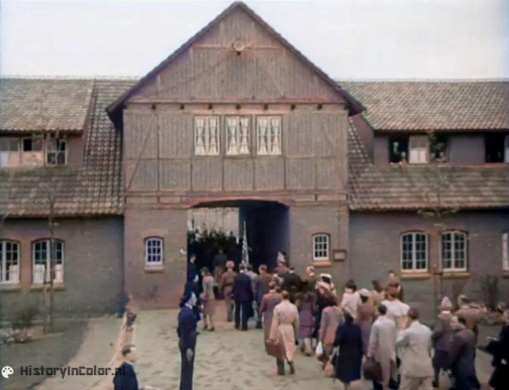 Filmbeelden van herdenking 1946 in Vught nu in kleur