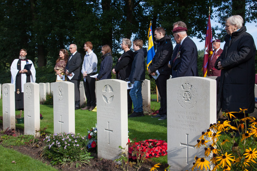 Three ceremonies for the interment of ashes of an Arnhem Veteran