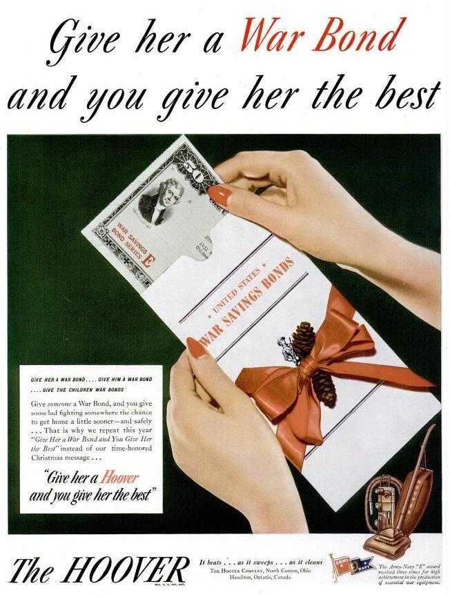 Kerstmis tijdens WO2 in Amerikaanse advertenties 1944-1945