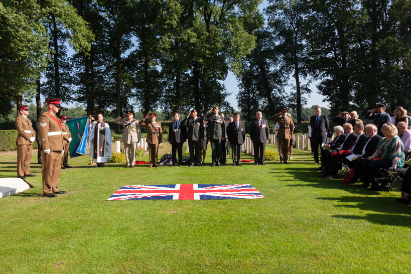 Rededication Service six Graves The Border Regiment