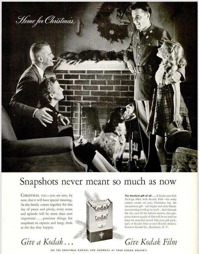 Kerstmis tijdens WO2 in Amerikaanse advertenties 1941-1942