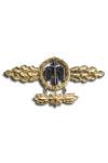 Gevechtspeld voor Jachtvliegers in Goud met hanger
