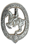 German Equestrian Badge in Silver