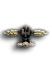 Frontflugspange für Fern-Nachtjäger in Gold mit Anhänger