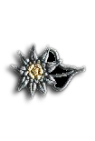 Mountain Soldier Edelweis Capbadge