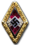 Golden Hitleryouth Honor Badge - Special Grade