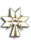 Kruis der 2e Klasse met Zwaarden in de Orde van de Kroon van Koning Zvonimir