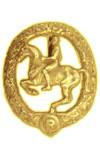 German Equestrian Badge in Gold