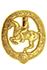Deutsches Reiterabzeichen in Gold