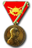 Hungarian Gold Medal of Bravery for Officers