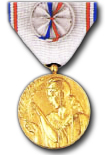 French Gratitude Medal in Gold
