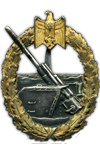 War Badge of the Coastal Artillery