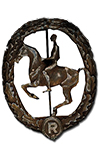 German Equestrian Badge in Bronze