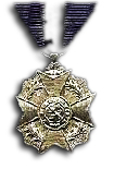 Silver medal to the Order of Leopold II