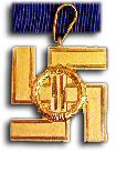 SS Dienstmedaille 1e Klasse (25 Jaar)