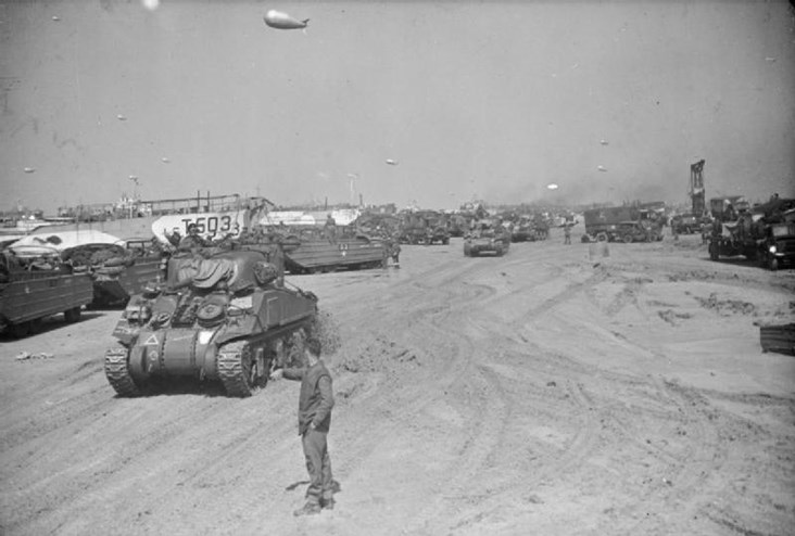 Allied Tanks and Equipment Pour into Normandy