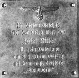 Photo: Plaque about Josef Ritter.