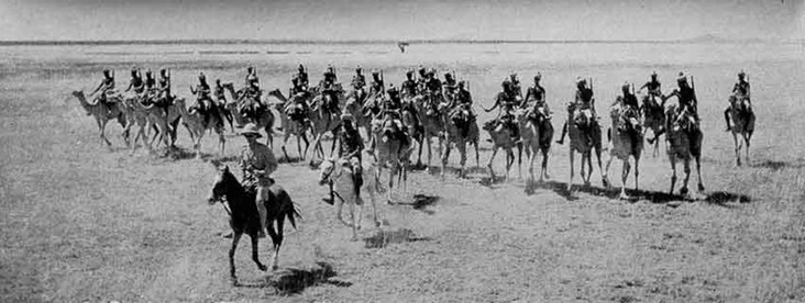 Across the Arid Plains of East Africa Races a Troop of Britain's Fames Somaliland Camel Corps