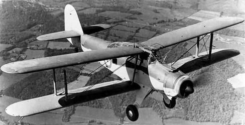 Photo: A Fairey Albacore biplane.